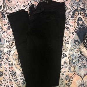 American Eagle Black ripped jeans